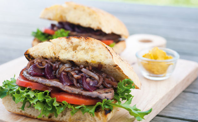 Steak Sandwich with Caramelised Onion