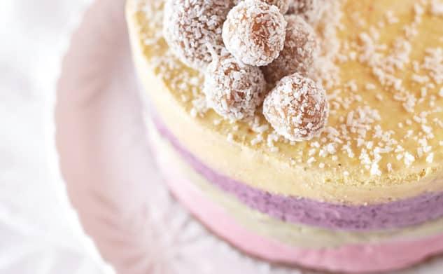 Dani Venn's raw rainbow ice cream cake