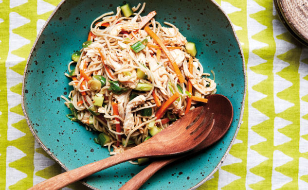 Chicken and miso noodle soup